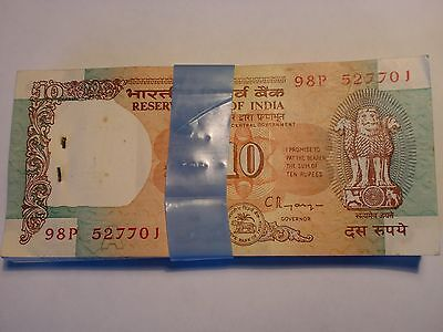 India Paper Money - Full Pack - Rs. 10/- Old Notes -Rare- C.rangarajan - D-41