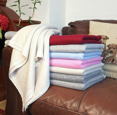 Pure Nepalese Cashmere Throws Blankets Travel Throws