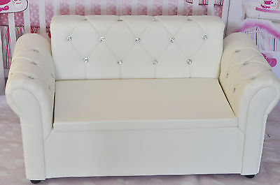 baby child photo props new white Loveseat sofa chair Couch settee furniture