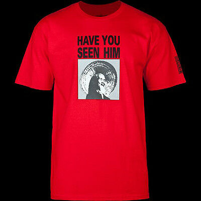 BONES BRIGADE - Animal Chin Red (POWELL PERALTA) T-shirt - NEW - SMALL ONLY