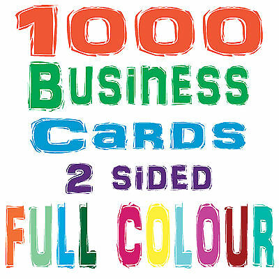 1000 Business Cards, 2 sided, + FREE DESIGN