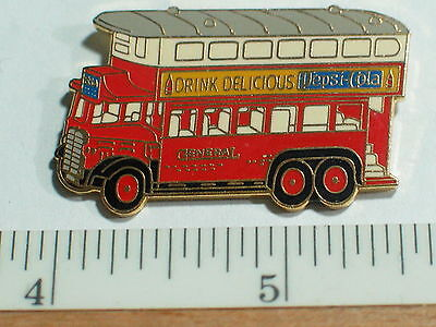 Pepsi Pin 1931 AEC Renown Double Decker Pepsi General Truck    (#007 Drinks)