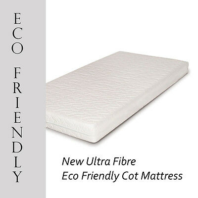 New Ultra Fibre Eco-Friendly Baby / Toddler Cot Bed Mattress  - All Sizes