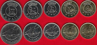 Kuwait set of 5 coins: 5-100 fils 1962-2012 UNC
