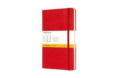 Moleskine Classic Notebook, Large, Ruled, Red, Hard Cover (5 X 8.25): Liniertes