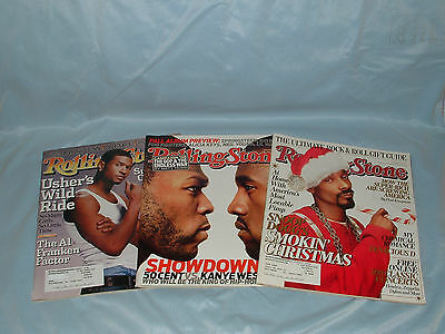 USHER (3) MAGAZINE LOT 2004-2007 Rolling Stone SNOOP DOGG Kanye West 50 CENT