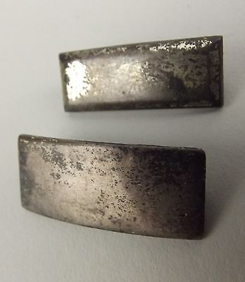 """2 Vintage Silver US Military Bars Pins Sterling 1"""" United States"""