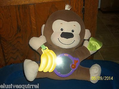 2009 FISHER PRICE PRECIOUS PLANETS GIGGLE AND GAMES PLUSH MONKEY WITH MIRROR