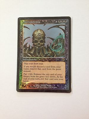 Mtg Necropotence - Necropotenza Foil Deck Master  Near  Mint Inglese