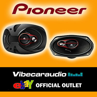 Pioneer TS-R6950S 6x9 300 Watt 3 Way Replacement Car Door Shelf Coaxial Speakers