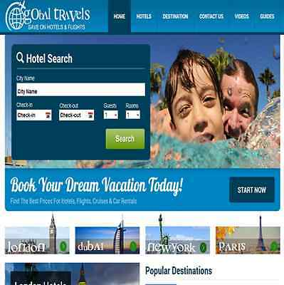 Turnkey Hotel Booking Website Earn up to $1000/week 100% Automated $1 - $4 lead