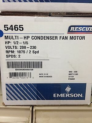 Emerson Rescue Motor, 1/2-1/5 HP, 208/230 volt Multi-HP Condenser Fan Motor 2spd