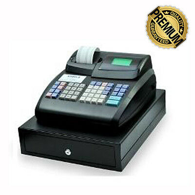CR800 Electronic Cash Register with Locking Cash Drawer ABN/GST/Logo/100 Depart