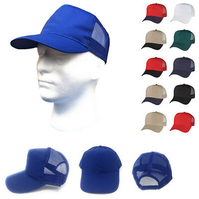 1 Dozen Cotton Twill Baseball Mesh Trucker 5 Panel Hats Caps Wholesale Bulk