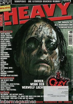 Magazin Heavy 6/2007,Ozzy Osbourne,Scorpions,Iron Maiden,Dream Theater,Y&T,Toxik
