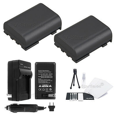 2x NB-2LH Battery + Charger for Canon EOS 350D 400D Rebel XT  Digital Rebel XTi