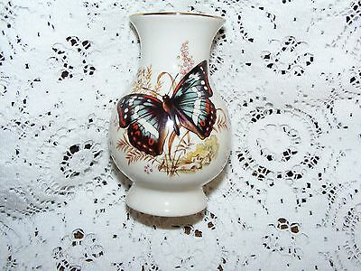 "Szeiler    Butterfly    Decorated    Small    Vase   Height   3.3/4""    inch"