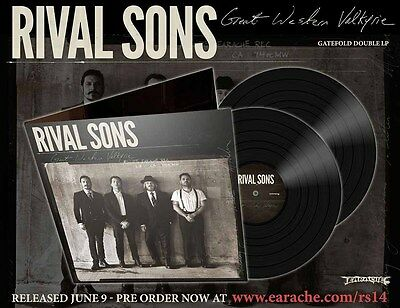 "Rival Sons ""Great Western Valkyrie"" Gatefold 2x12"" Black Vinyl - NEW!"