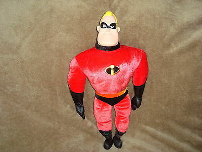 "Disney's The Incredibles Plush with Plastic Head Mr. Incredible 18"" tall"