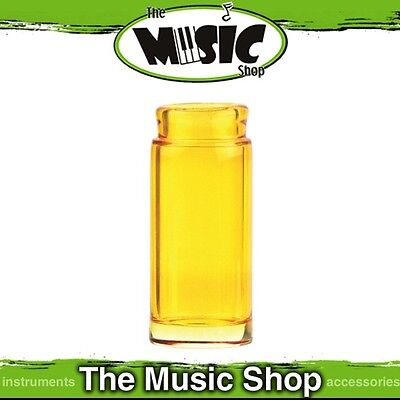 Brand New Jim Dunlop 277Y Blues Bottle Regular Glass Yellow Guitar Slide - J277Y