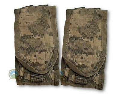 QTY 2 NEW in BAG Frag Hand Grenade Pouch USMC COYOTE Tan MOLLE Utility Compass