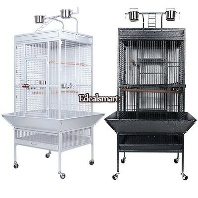 "31.2""x29.64""x62.4"" Bird Large Top Parrot Finch Cage Macaw Cockatoo Pet House ES8"