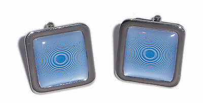 Blue Circles Cufflinks