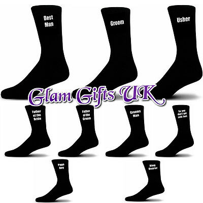 Wedding Socks, Groom, Best Man, Usher, Father of the Bride.... Free P&P