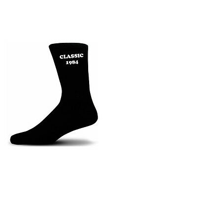 Classic 1984 Black Cotton Rich Birthday Novelty Socks