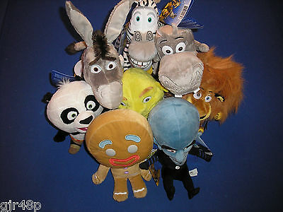 DreamWorks BIG HEADZ Madagascar Shrek Megamind Kung Fu Panda Character Soft Toy