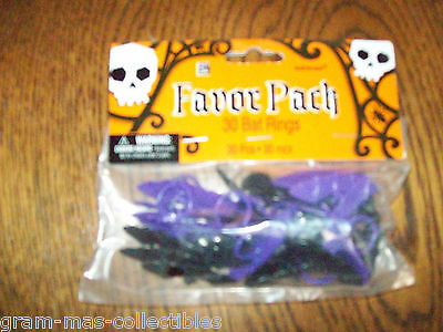 Bat Rings 30 Count Party Favor Pack Purple And Black Colors