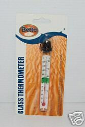 BETTA GLASS THERMOMETER. Tropical Aquarium Tank. RJ020