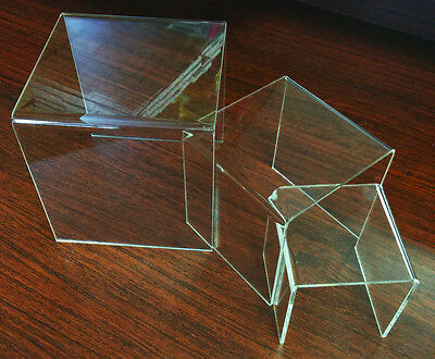 "Clear Acrylic Display Riser - Set of 6 - 3"", 4"", 5"""