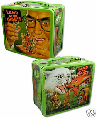 Land Of The Giants Tin Tote / Repro Metal Lunchbox Embossed Irwin Allen