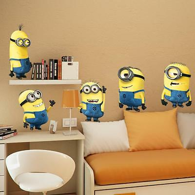 Despicable Me Minions Wall Sticker Decal 5 Pieces