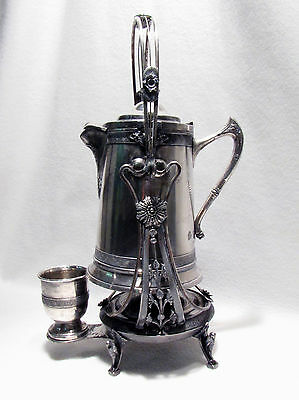 Antique Reed & Barton Silverplate Tilting Water Pitcher Stand Goblet Cooler Jug