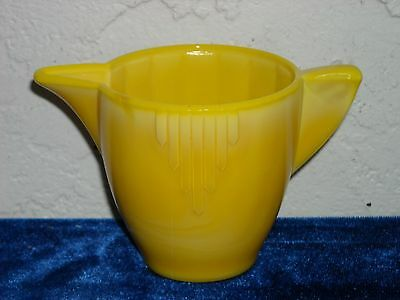 Akro Agate Large Interior Panel Teapot, No Lid  Opaque Yellow