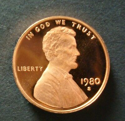 """1980-S Gem Proof Lincoln Cent Deep Cameo """"Multiple Purchase Discounts"""""""