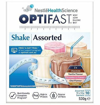OPTIFAST VLCD SHAKE ASSORTED PACK 10 x 54G - weight loss milkshake - CHEAPEST