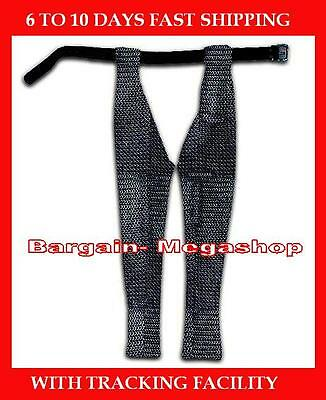 Chain Mail Leggings Butted Medieval Chainmail Chausses Medium Blackend Larp SCA