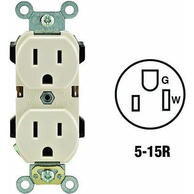 R56-05252-OTS Industrial Grade Grounded Duplex Outlet