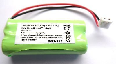 Tomy Digital Tf525 Y7574Uk Baby Monitor Rechargeable Compatible Battery 2.4V