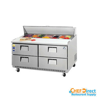 "Everest EPBNR2-D4 48"" Four Drawer Sandwich Prep Table"
