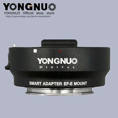 YONGNUO Smart Adapter EF-E Mount for Canon EF Lens to Sony NEX E-Mount Adapter