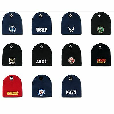 d4920f980261f0 1 DOZEN EMBROIDERED Military Short Beanies Knit Caps Hats Wholesale ...