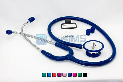 QUALITY Dual Head Stethoscope - NAVY BLUE - Doctors, Nurses, Students