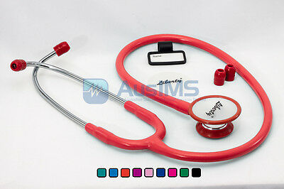 QUALITY Dual Head Stethoscope - RED - Doctors, Nurses, Students