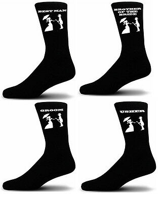 Black Luxury Cotton Rich Wedding Socks, Groom, Best Man, Usher Victorian Figures