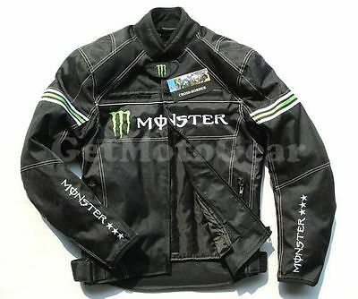 Free Shipping NEW Bike Motorcycle Riding Monster Energy Protective Armor Jacket
