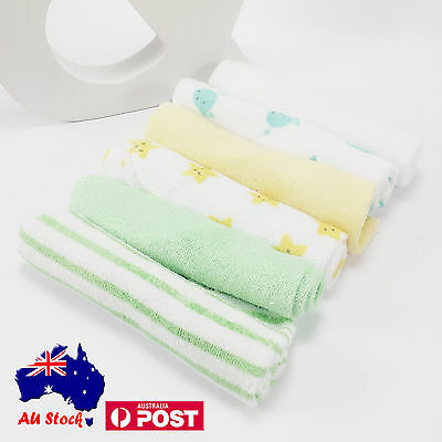 New 6 pcs Baby Bulk Pack Wash Cloth Washers Face Hand Towels Wipe Gift